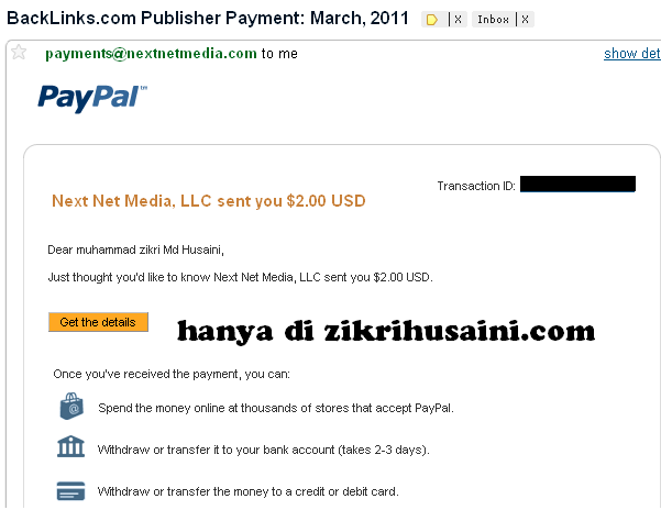 backlinks.com , payment from backlinks.com, bayaran pertama dari backlinks.com,