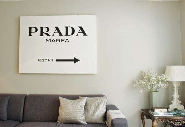 home diy prada marfa sign from gossip girl purseforum. Black Bedroom Furniture Sets. Home Design Ideas