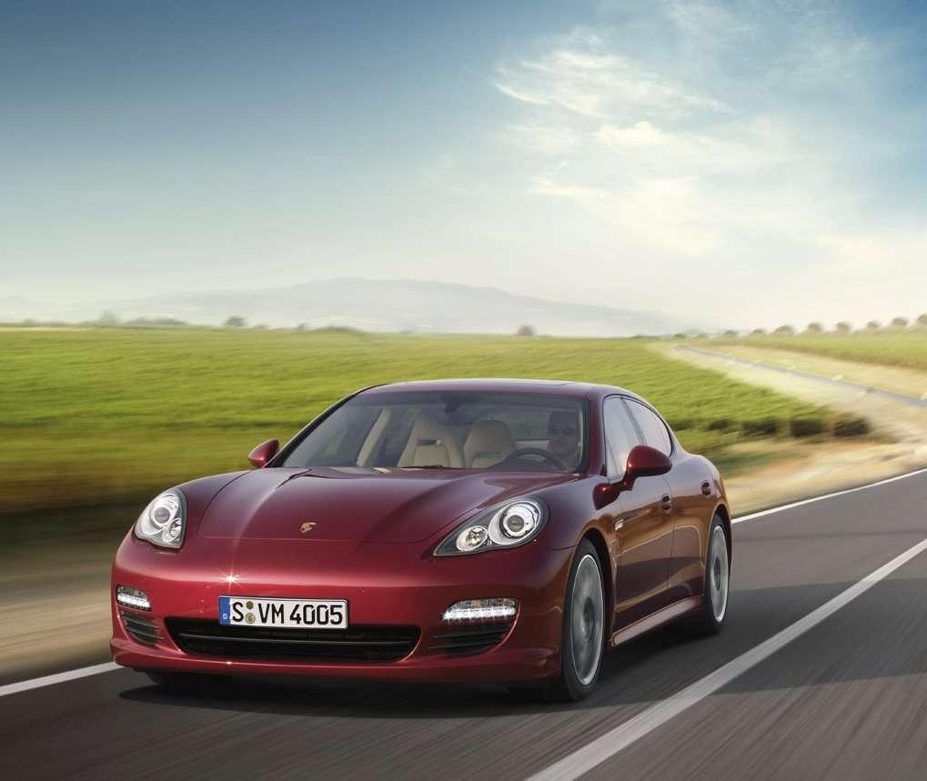Porsche Panamera Car: Porsche Panamera (Ruby Red Metallic)